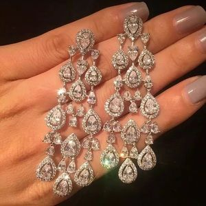 6ct Marquis Chandelier Earrings